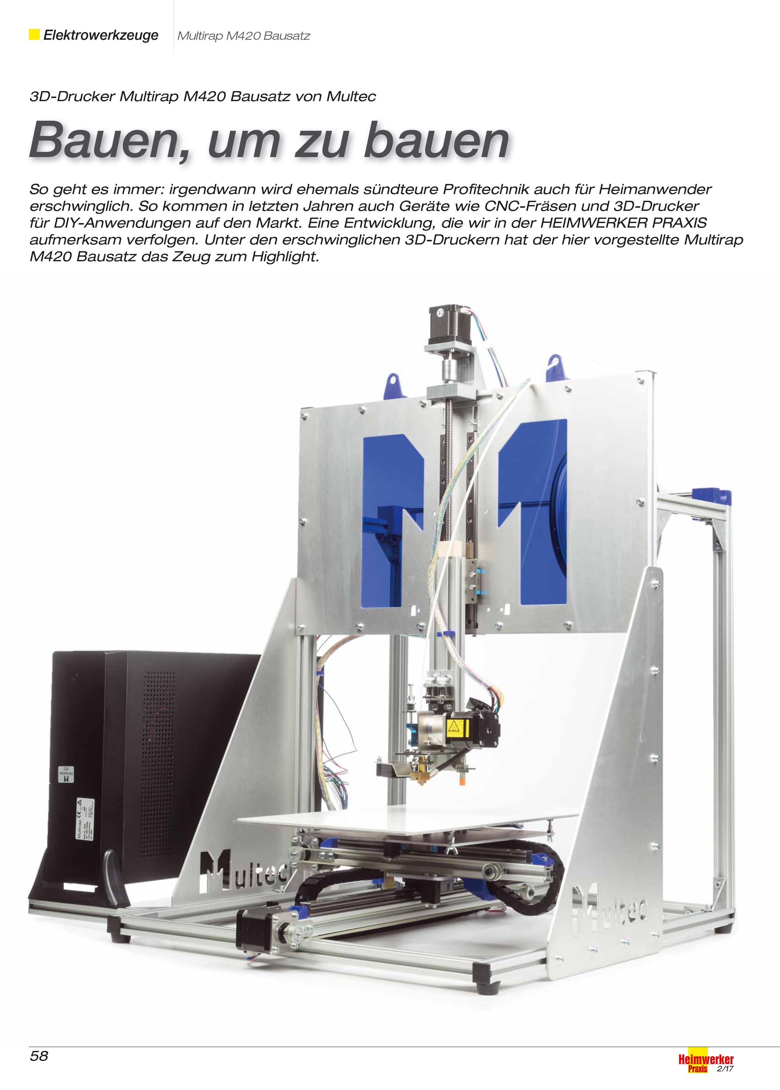 Testsieger 3D-Drucker