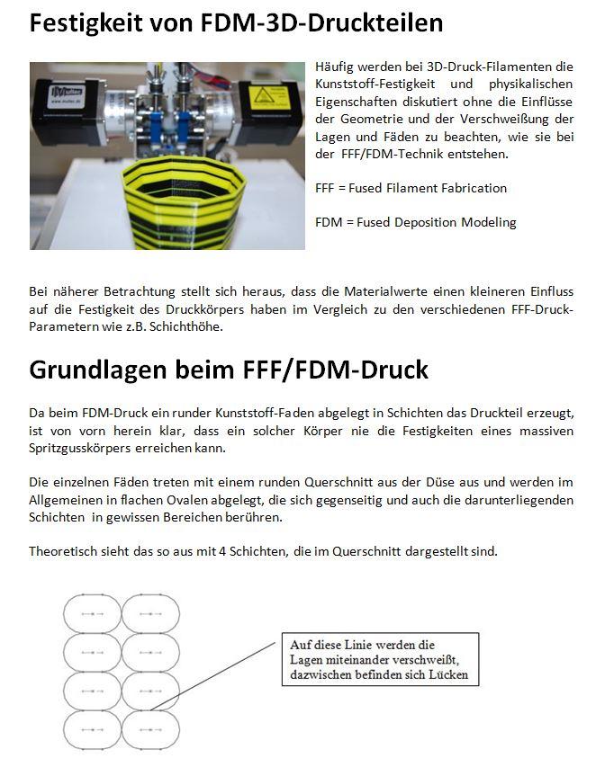 FDM-Drucktechnik: Festigkeit optimieren mit Hintergrundwissen