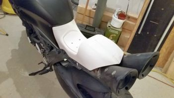 Motorcycle seat, PLA-HT, unpainted