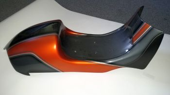 Motorcycle seat made of PLA-HT