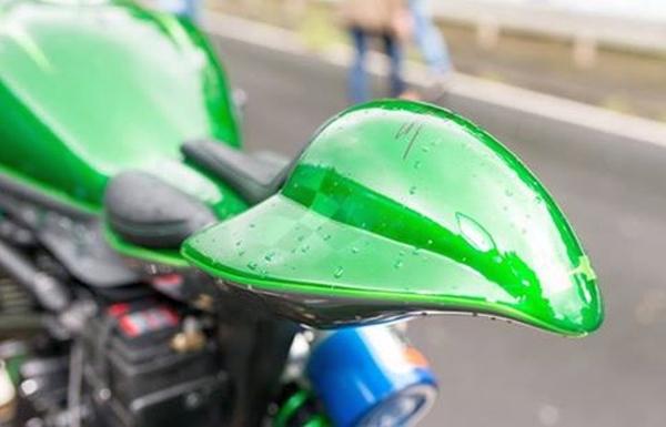 Motorrad-Teile mit PLA-HT gedruckt