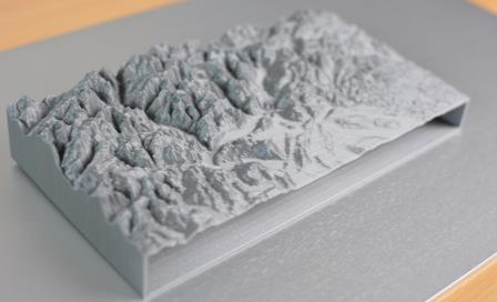 The Swiss Alps printed using the Multirap M420